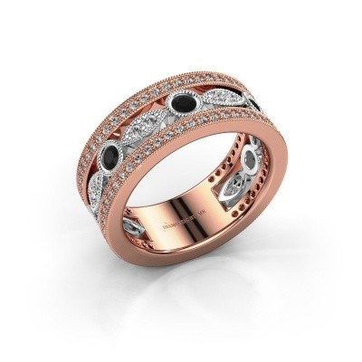 Picture of Ring Jessica 585 rose gold black diamond 0.924 crt