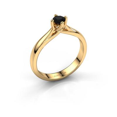 Bague de fiançailles Janne 585 or jaune diamant noir 0.36 crt