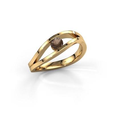 Foto van Ring Sigrid 1 585 goud rookkwarts 4 mm