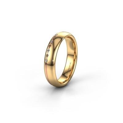 Bague d'amitié WH2144L34A 585 or jaune diamant brun ±4x1.7 mm