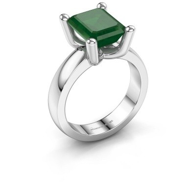 Ring Clelia EME 925 silver emerald 10x8 mm