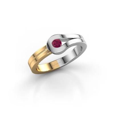 Ring Kiki 585 white gold rhodolite 3 mm
