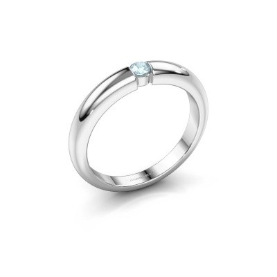 Picture of Engagement ring Amelia 925 silver aquamarine 3 mm