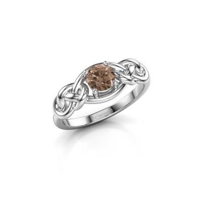 Foto van Ring Zoe 925 zilver bruine diamant 0.50 crt