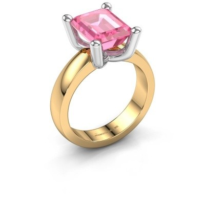 Ring Clelia EME 585 gold pink sapphire 10x8 mm