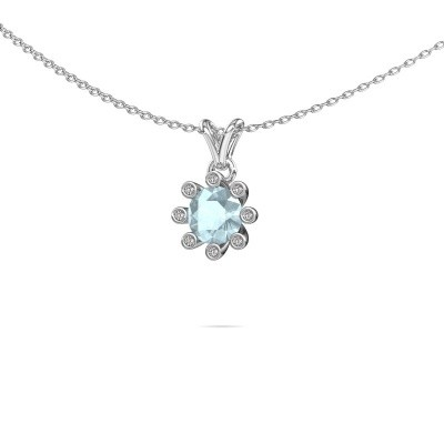 Picture of Pendant Carola 3 950 platinum aquamarine 6 mm