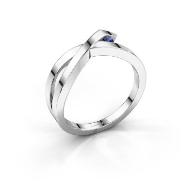 Ring Alyssa 925 silver sapphire 2 mm
