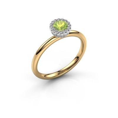 Engagement ring Queen 585 gold peridot 4.2 mm