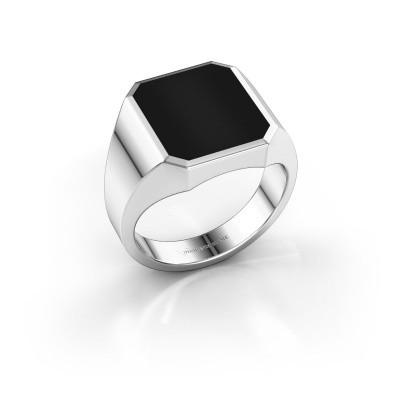 Picture of Signet ring Lars 3 950 platinum onyx 14x12 mm