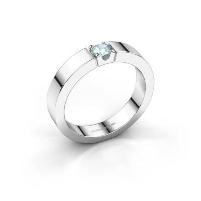 Foto van Belofte ring Dana 1 925 zilver aquamarijn 3.7 mm