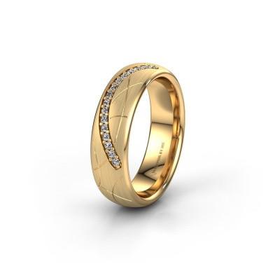 Trouwring WH2060L36CM 375 goud diamant ±6x2.2 mm