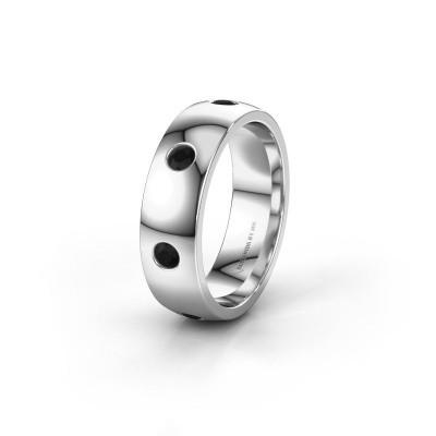 Alliance WH0105L26BP 925 argent diamant noir ±6x2 mm