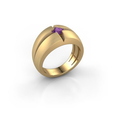 Foto van Heren ring Rens 375 goud amethist 3.5 mm
