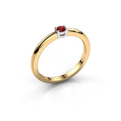 Foto van Verlovingsring Michelle 1 585 goud robijn 2.7 mm