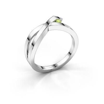 Ring Alyssa 925 silver peridot 2 mm