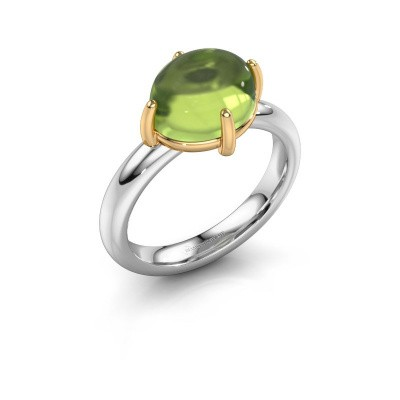 Ring Melodee 585 white gold peridot 10x8 mm