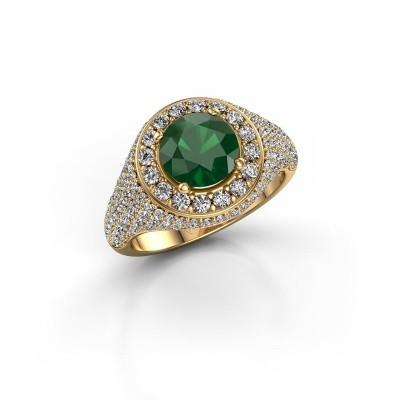 Foto van Ring Dayle 375 goud smaragd 7 mm