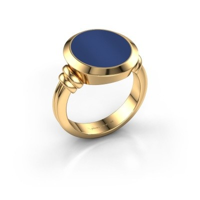 Zegelring Jake 4 585 goud lapis lazuli 15x13 mm
