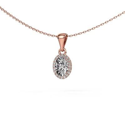 Hanger Seline ovl 375 rosé goud lab-grown diamant 0.90 crt