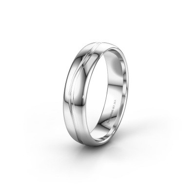 Wedding ring WH0907M35X 585 white gold ±5x1.5 mm