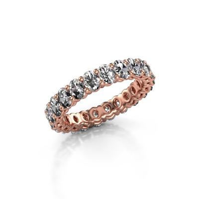 Aanschuifring Heddy OVL 3x4 375 rosé goud diamant 3.30 crt