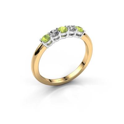 Foto van Promise ring Michelle 5 585 goud peridoot 2.7 mm