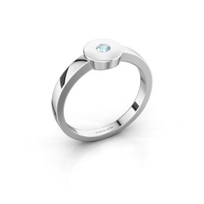 Ring Elisa 585 white gold aquamarine 3 mm