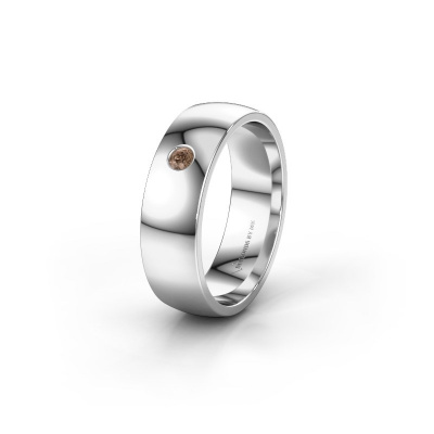 Picture of Wedding ring WH0101L26AP 585 white gold brown diamond ±6x1.4 mm