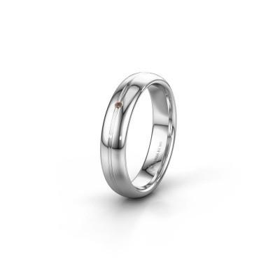 Wedding ring WH2142L34A 585 white gold brown diamond ±4x1.7 mm