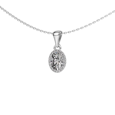 Hanger Seline ovl 950 platina lab-grown diamant 0.800 crt