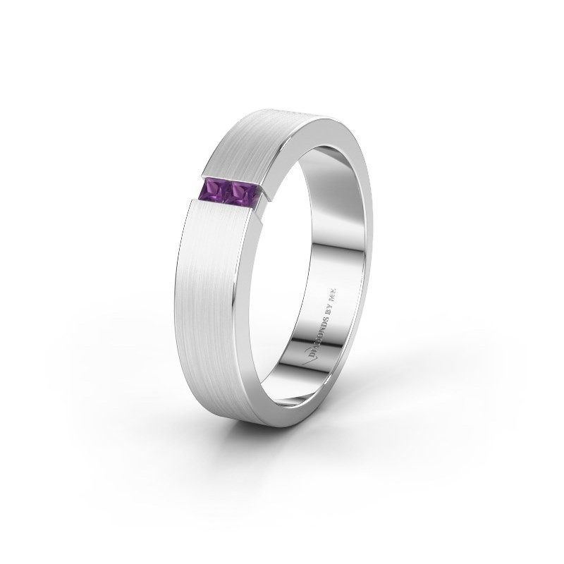 Wedding ring WH2136M15E 585 white gold amethyst ±5x2.4 mm