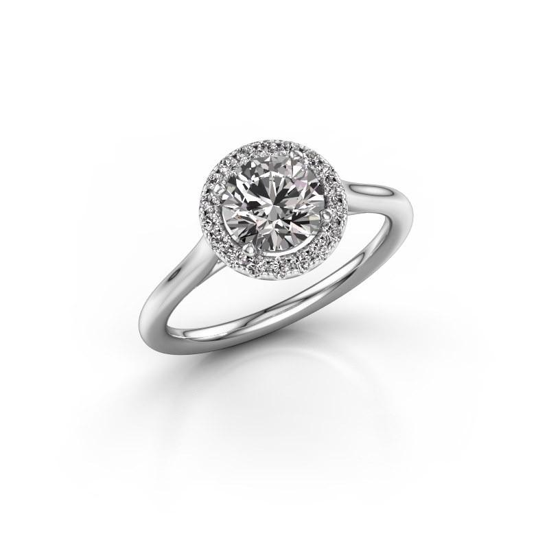Engagement ring Seline rnd 1 925 silver diamond 1.16 crt