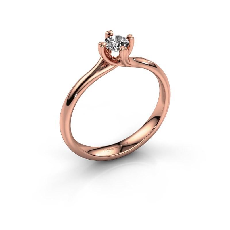 Verlobungsring Livia 585 Roségold Diamant 0.25 crt