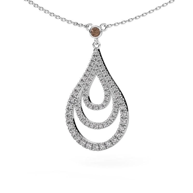 Hanger Delpha 585 witgoud bruine diamant 0.487 crt