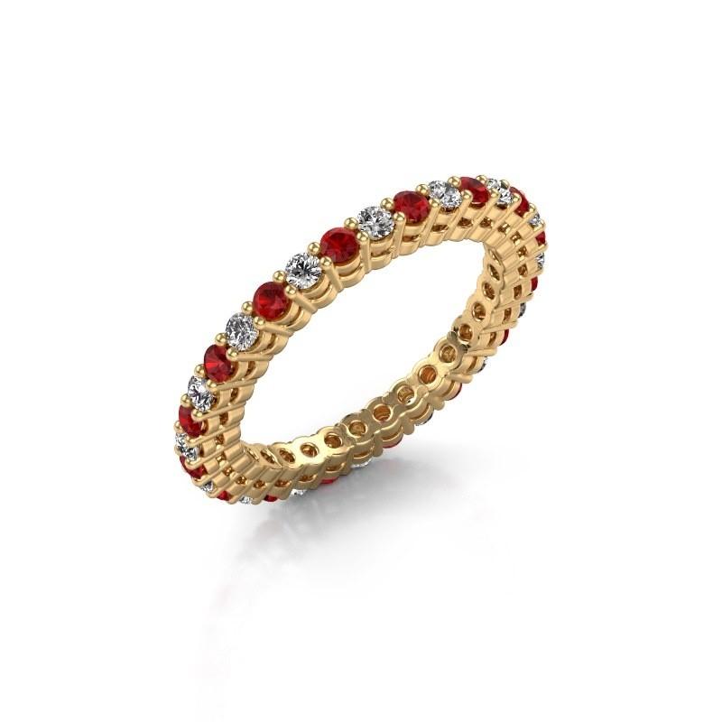 Aanschuifring Rufina 3 375 goud robijn 1.9 mm