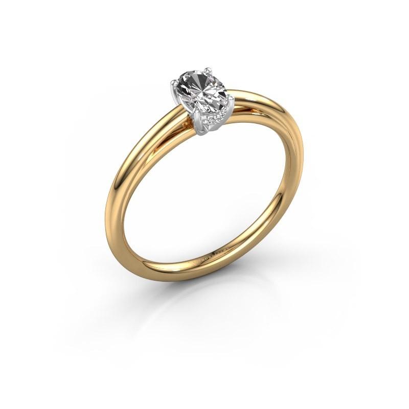 Verlobungsring Haley OVL 1 585 Gold Diamant 0.50 crt