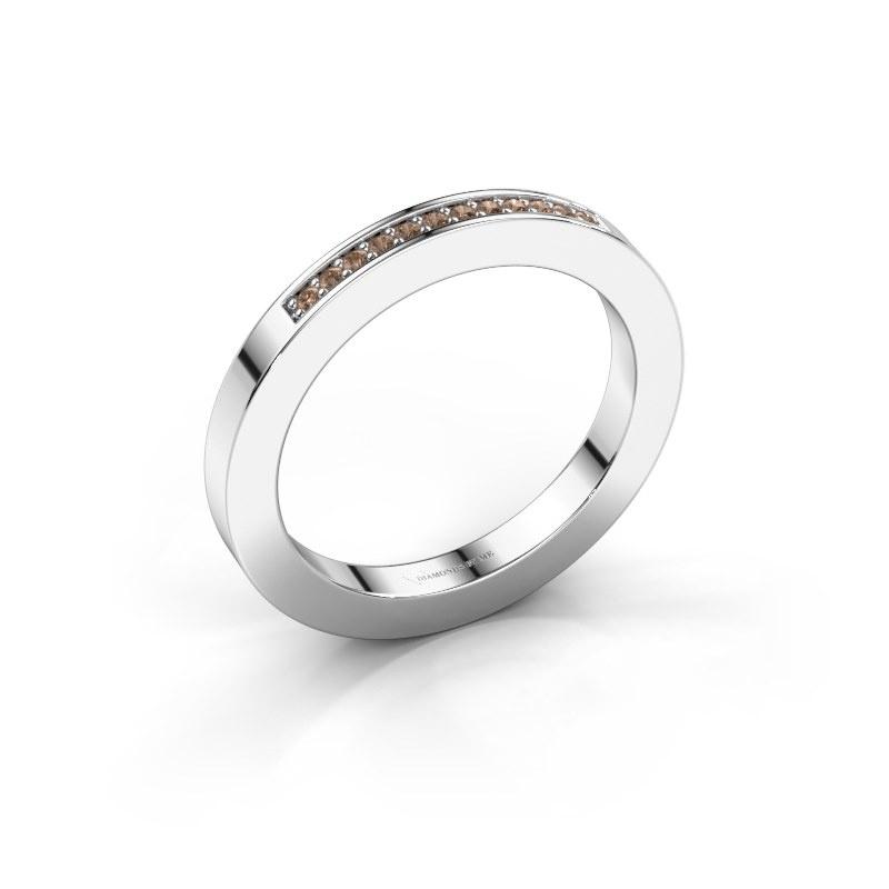 Aanschuifring Loes 1 925 zilver bruine diamant 0.08 crt