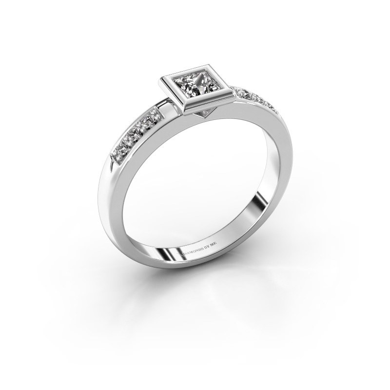 Steckring Lieke Square 925 Silber Diamant 0.340 crt