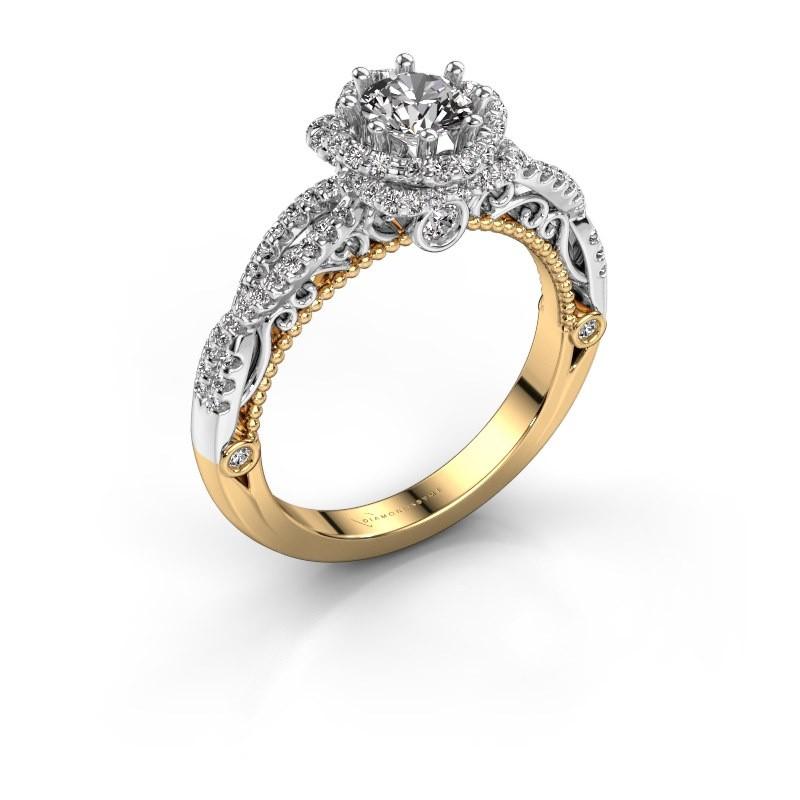 Engagement ring Lysanne 585 gold diamond 0.95 crt