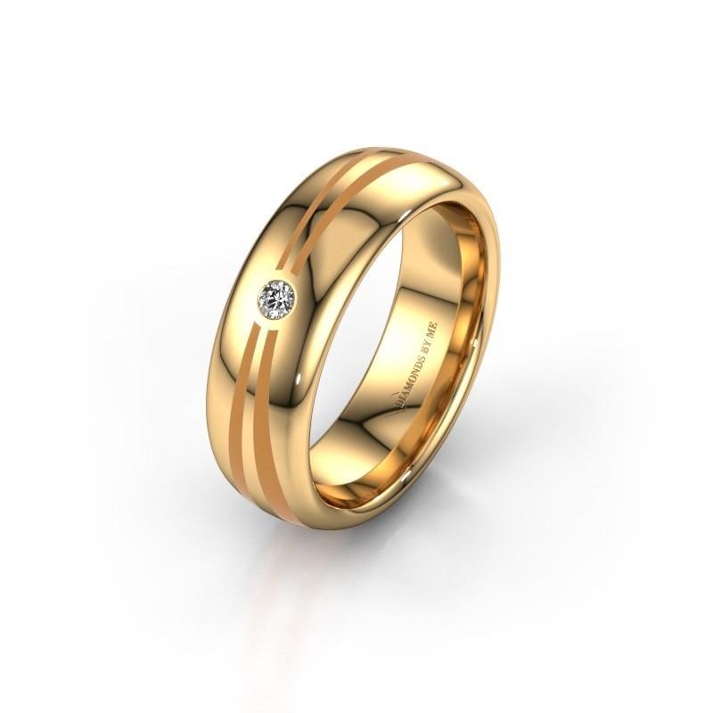 Wedding ring WH2226L36BP 375 gold ±6x2 mm