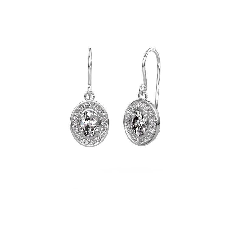 Oorhangers Layne 1 585 witgoud diamant 1.66 crt