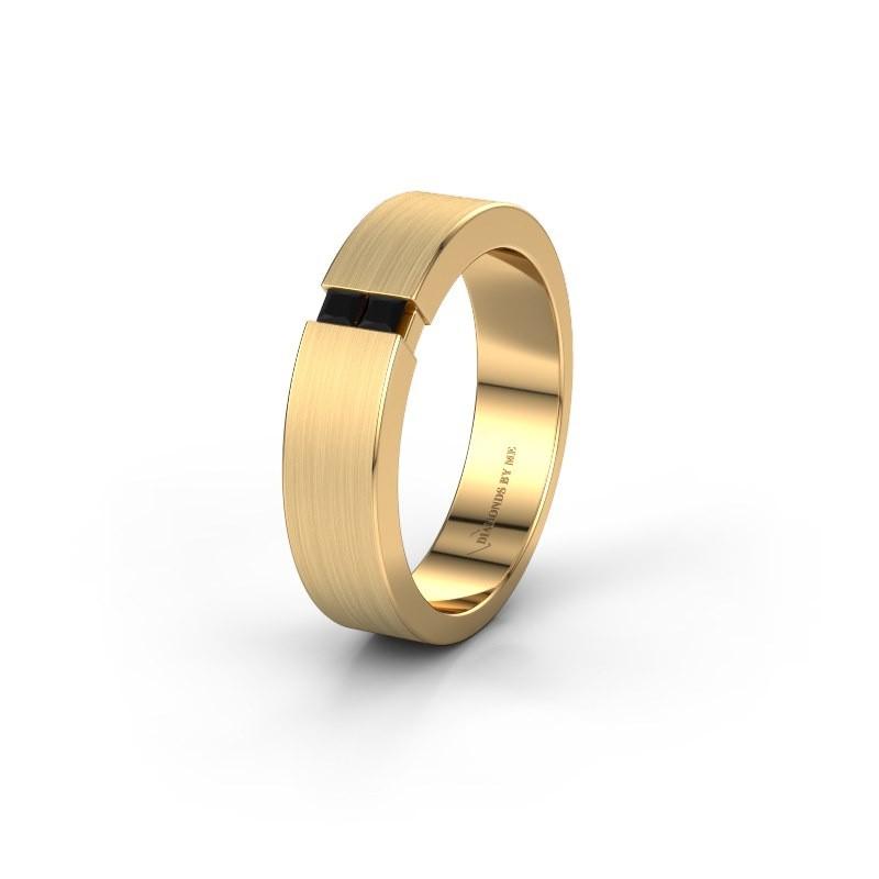 Wedding ring WH2136L15E 375 gold black diamond ±5x2.6 mm