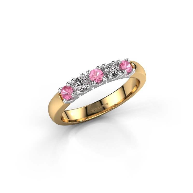 Engagement ring Rianne 5 585 gold pink sapphire 2.7 mm