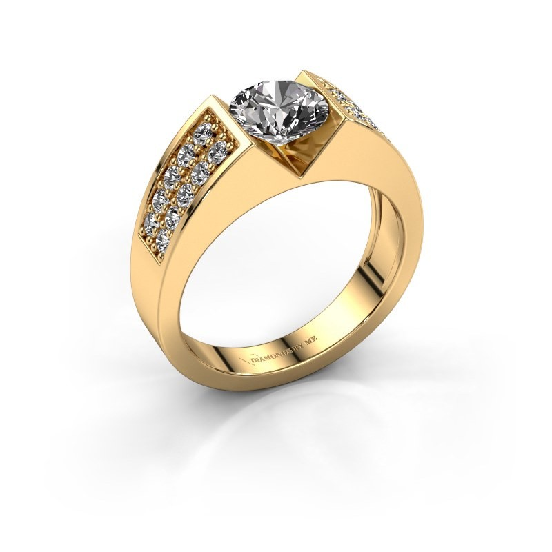 Verlovingsring Lizzy 3 375 goud diamant 1.40 crt