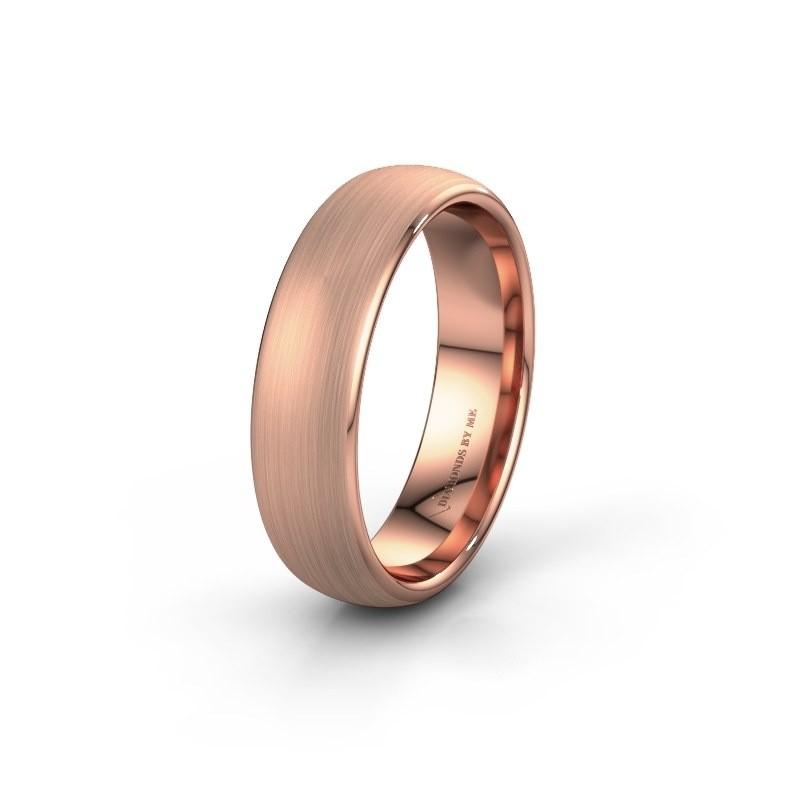 Wedding ring WH0100M36BM 375 rose gold ±6x2 mm