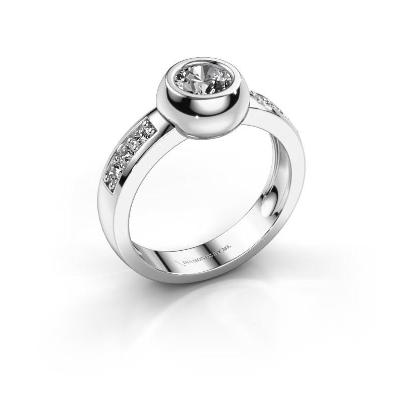 Ring Charlotte Round 585 witgoud diamant 0.78 crt