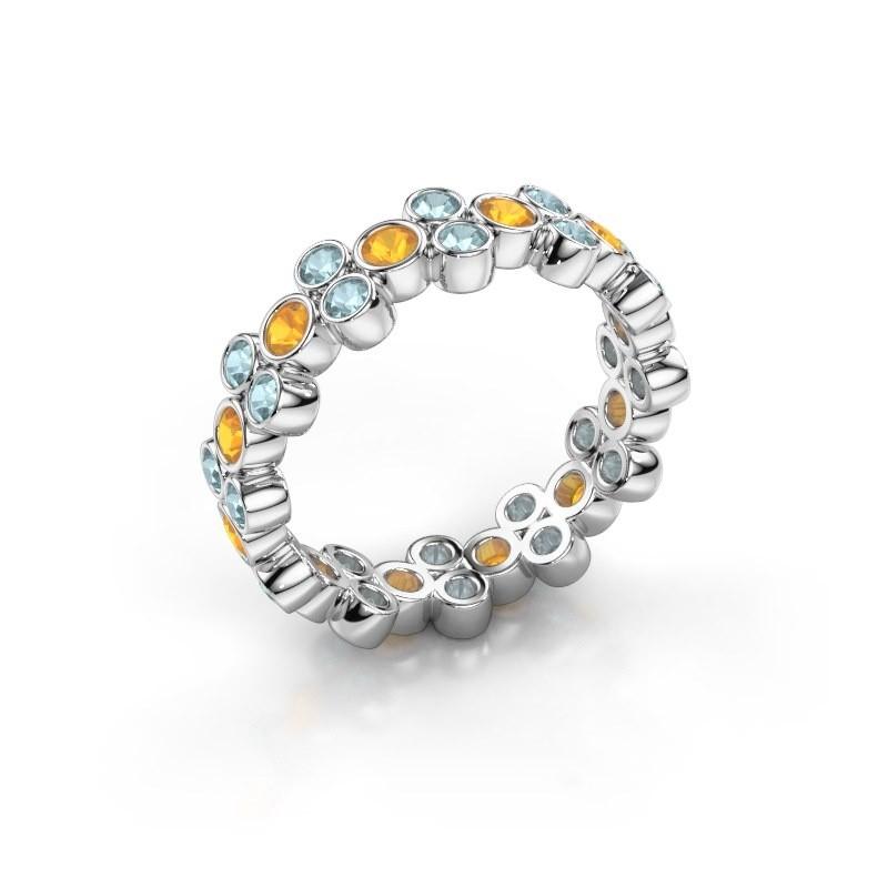 Ring Victoria 585 Weißgold Citrin 2.4 mm