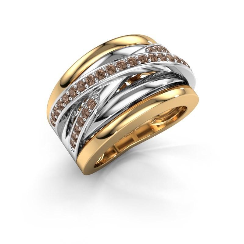 Ring Clair 3 585 goud bruine diamant 0.495 crt
