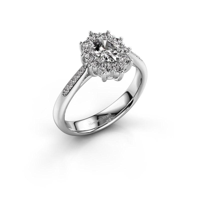 Bague de fiançailles Leesa 2 925 argent diamant 0.50 crt