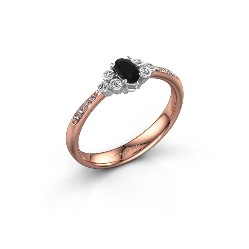 Bague de fiançailles Lucy 2 585 or rose diamant noir 1.129 crt
